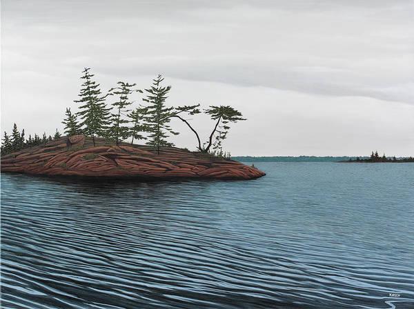 Windswept Island Georgian Bay Poster