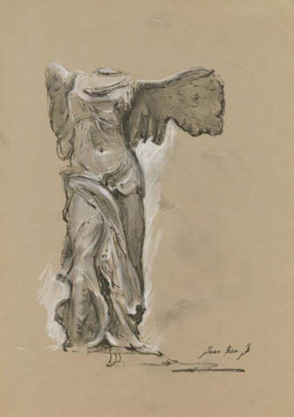 Winged Vicory Of Samothrace Poster