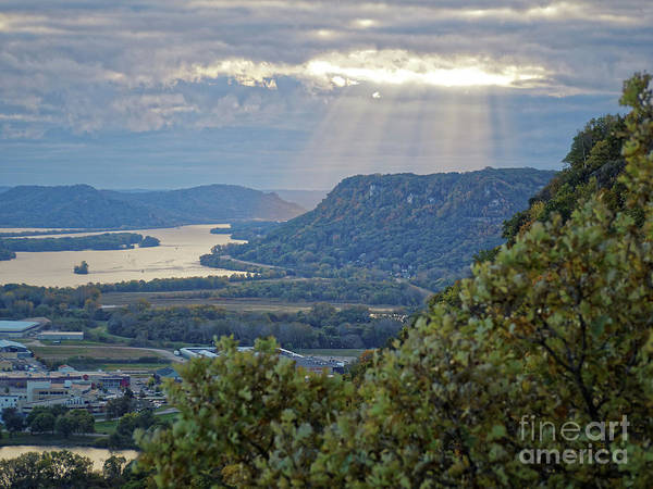 Poster featuring the photograph Winona Garvin Heights With Sunbeams by Kari Yearous