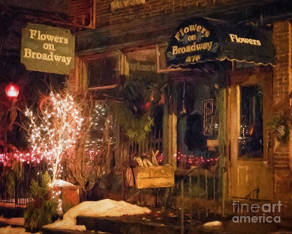 Poster featuring the photograph Winona Mn Storefront Historic Flower Shop by Kari Yearous