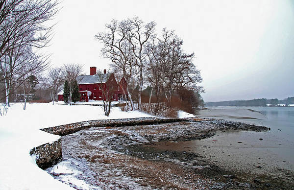Poster featuring the photograph Winter At Perkins House  by Wayne Marshall Chase