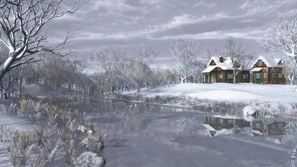 Winter At The Lake Poster