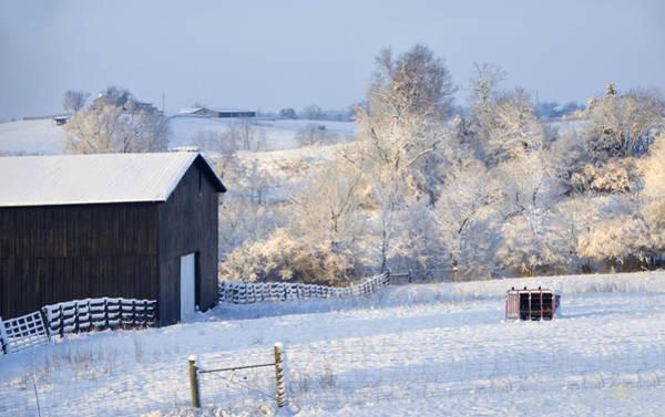 Poster featuring the photograph Winter Barn 1 by Sam Davis Johnson