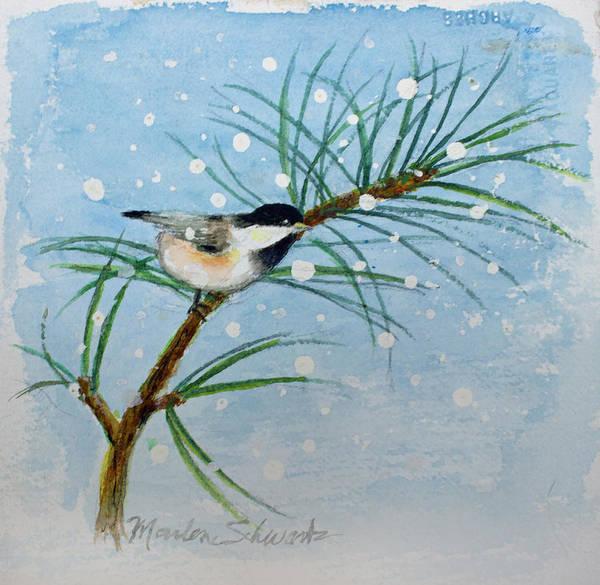 Winter Chickadee Poster