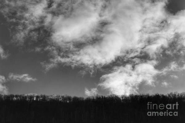 Winter Clouds Over The Delaware River Poster