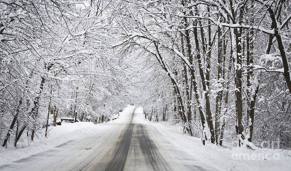 Winter Drive On Highway A Poster