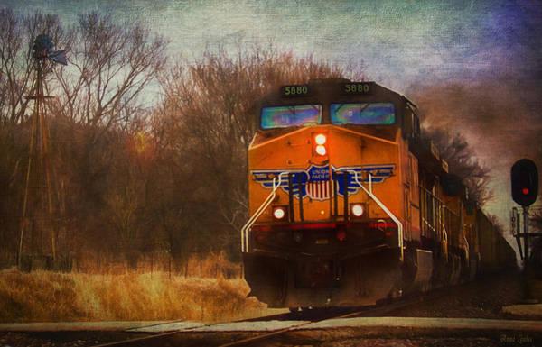 Winter Evening Union Pacific Train Poster