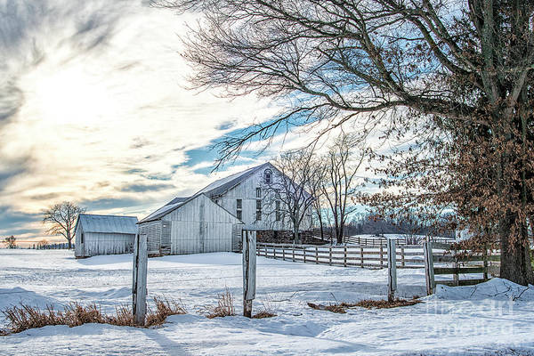 Winter Farm Poster