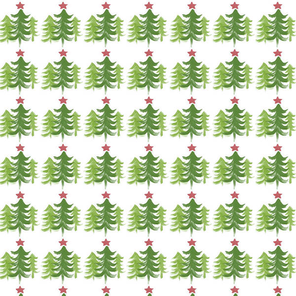 Winter Holiday Trees 1-  Art By Linda Woods Poster