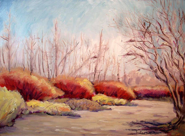 Winter Landscape Dry Creek Bed Poster