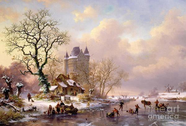 Winter Landscape With Castle Poster