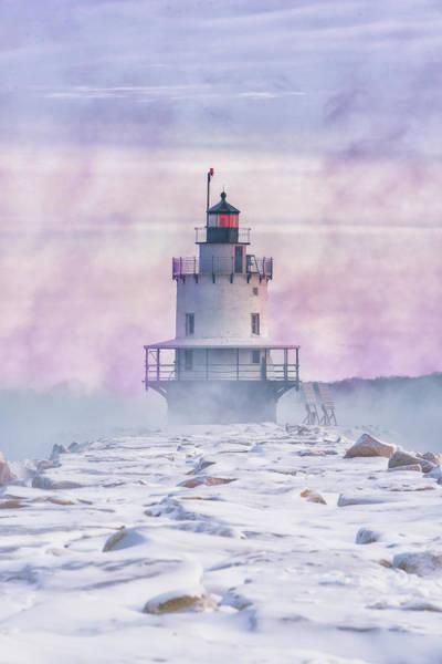 Winter Morning At Spring Point Ledge Poster