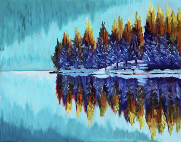 Winter - Mountain Lake Poster