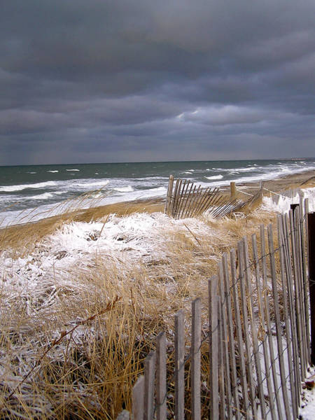 Winter On Cape Cod Sandy Neck Beach Poster