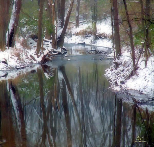 Poster featuring the photograph Winter Stream 4 by Sam Davis Johnson