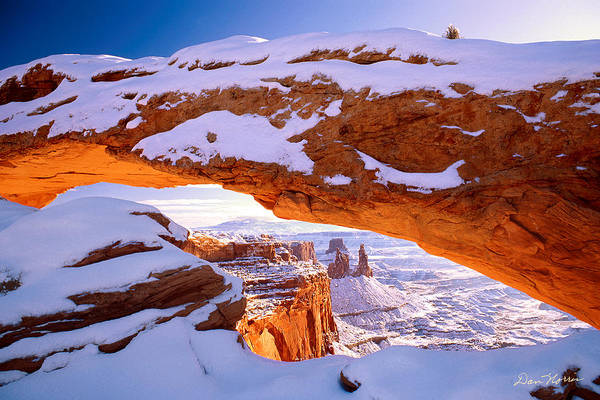Winter Sunrise At Mesa Arch Poster