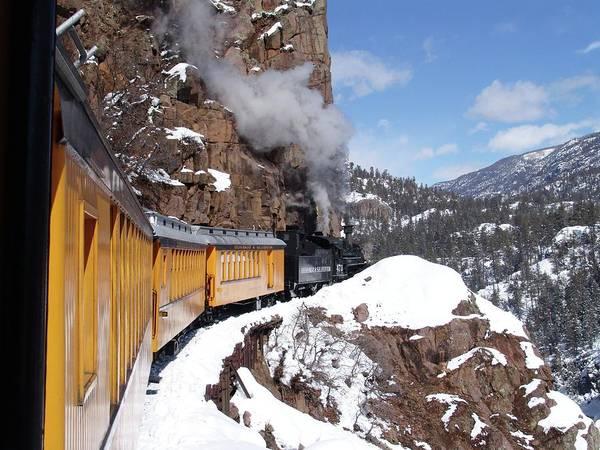 Winter Train Durango Silverton Colorado Poster