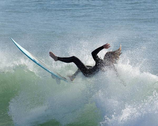 Wipe Out - California Surfer Poster