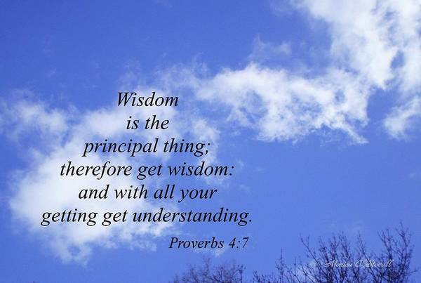 Wisdom Is The Principal Thing... Poster