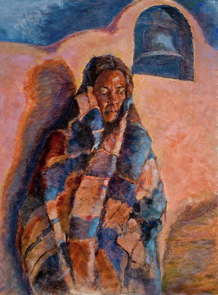 Woman In A Serape Poster
