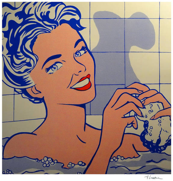 Woman In Bath Poster