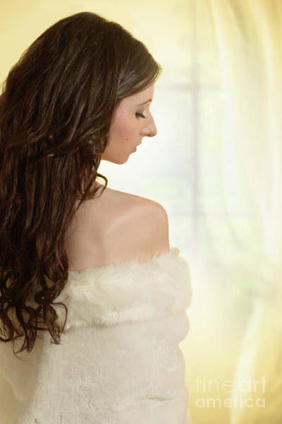 Woman In Her Bedroom Poster