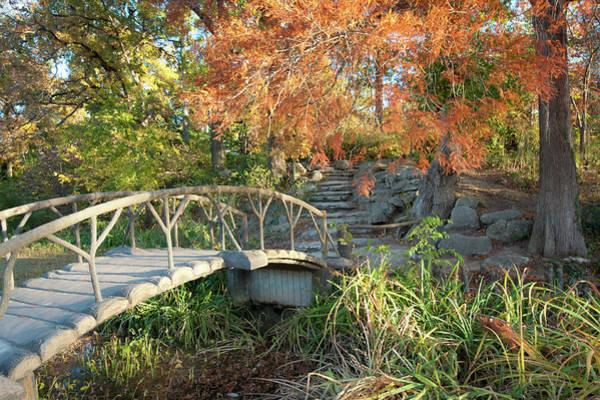 Woodward Park Bridge In Autumn - Tulsa Oklahoma Poster