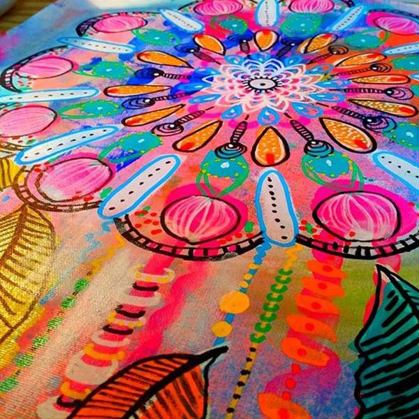 Working On A New #mandala #wallhanging Poster