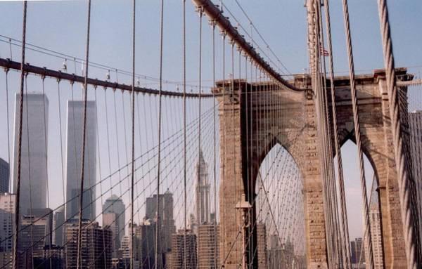 World Trade Center And Brooklyn Bridge Poster