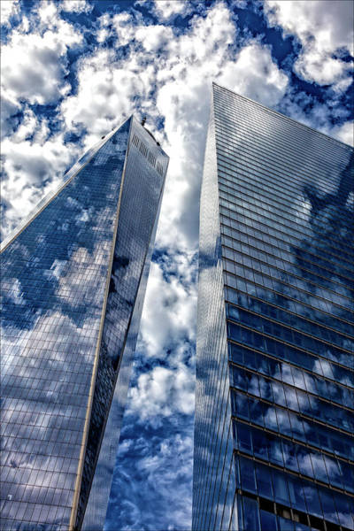 World Trade Center And Clouds Poster