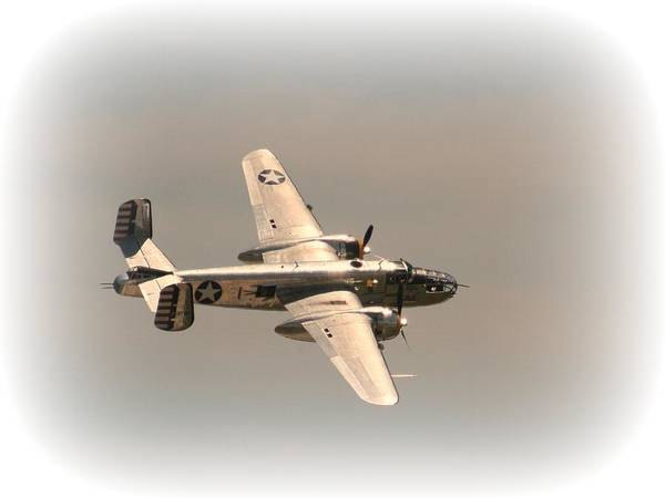 World War II B25 Mitchell Bomber Poster