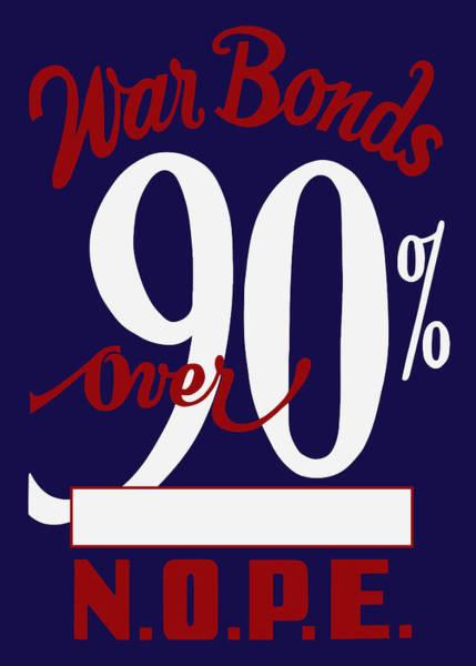 World War Two - War Bonds  Poster