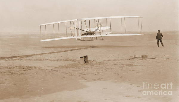 Wright Brothers First Powered Flight Poster