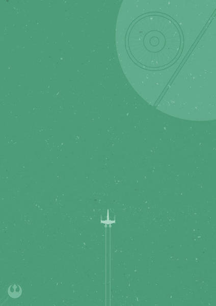 X-wing Meets Death Star Poster