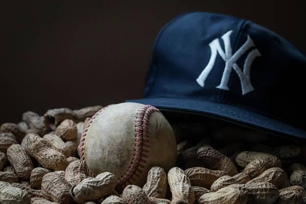 Yankee Cap Baseball And Peanuts Poster