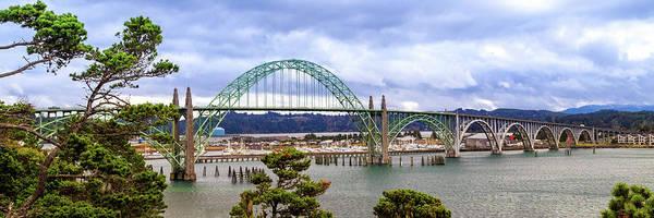 Yaquina Bay Bridge Panorama Poster