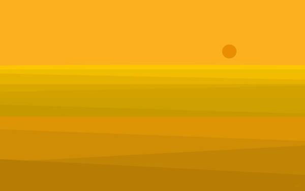 Yellow Fields Of Corn Poster