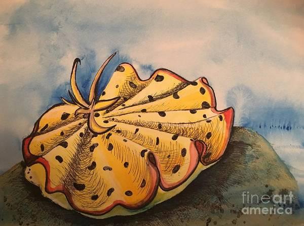 Yellow Nudibranch Poster