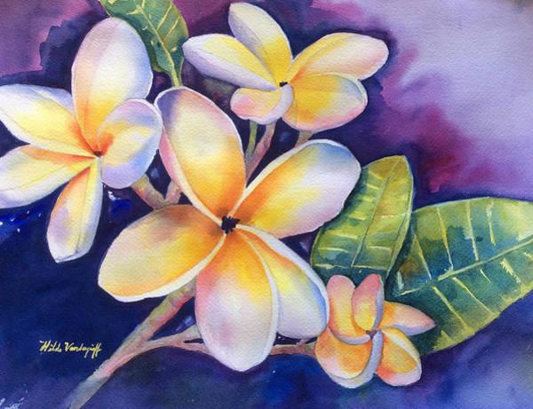 Yellow Plumeria Flowers Poster
