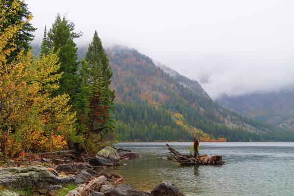 Yellowstone Lake Fall Poster