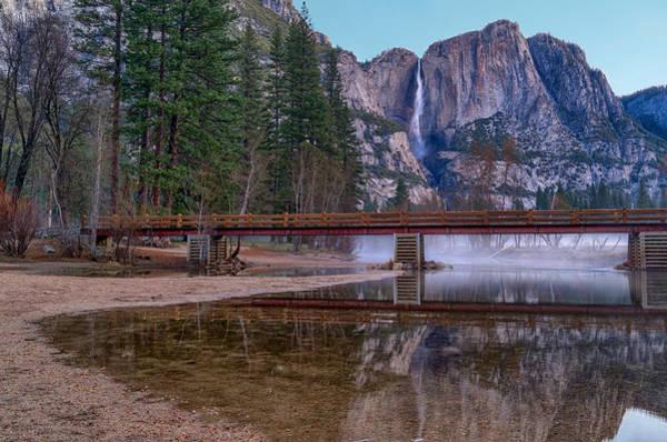 Yosemite Falls At The Swinging Bridge Poster
