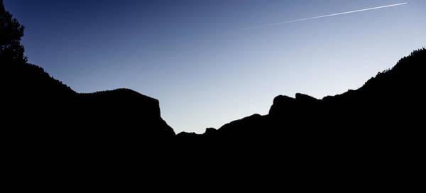 Yosemite In Silhouette Poster