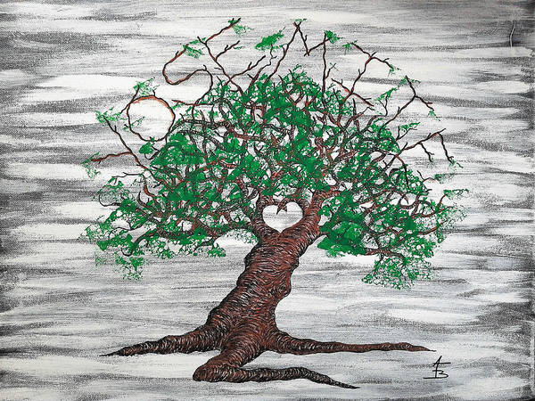 Poster featuring the drawing Yosemite Love Tree by Aaron Bombalicki