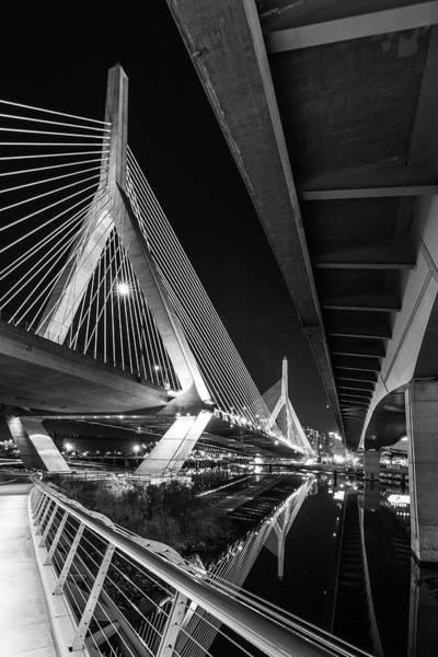 Zakim Bridge From Under The Leverett Connector Bridge Poster