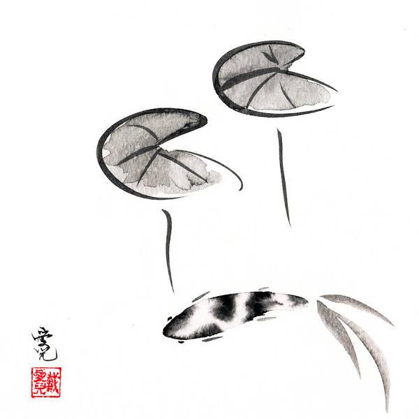 Zen Fish Painting Poster