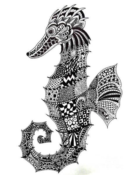 Zen Seahorse Poster