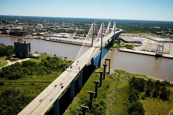 Aerial View Of Talmadge Bridge Poster