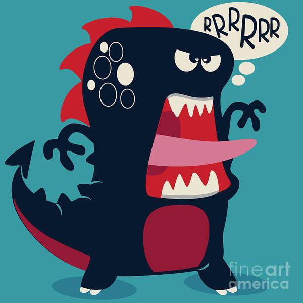 Cute Monster Vector Poster