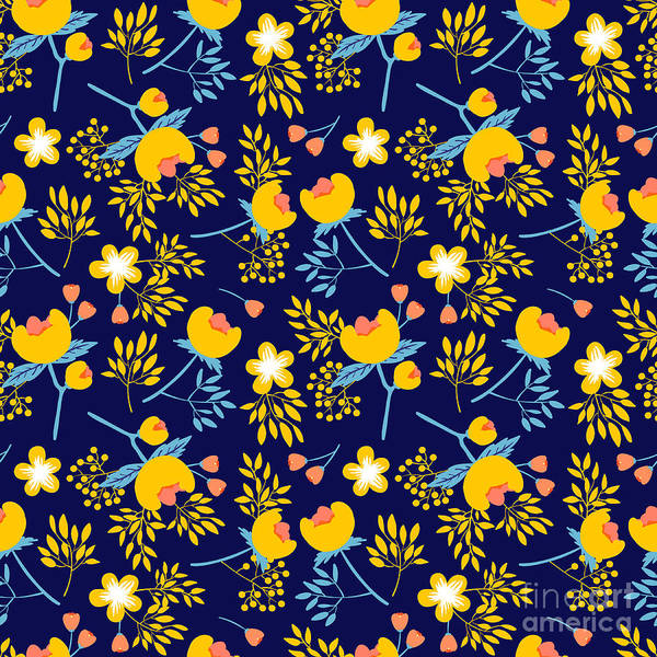 Cute Vector Seamless Pattern With Poster