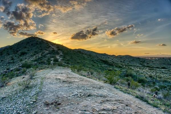 Dramatic Mountain Sunset  Poster